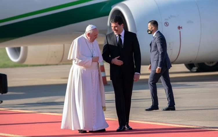 پاپا فرانسیس پەیامێک بۆ سەرۆکی هەرێمی کوردستان دەنێرێت